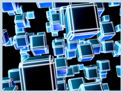 Blue Cubes stacking